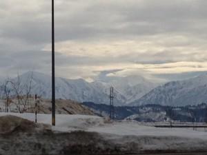 越後川口PAから見た八海山